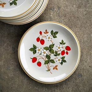 🆕 Listing! Vintage | 6 Strawberries Dinner Plates